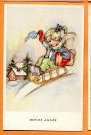ALB545, Petite Fille En Luge, 44114, Fantaisie, Non Circulée - New Year