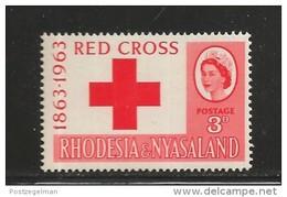 RHODESIA-NYASSALAND, 1963, Mint Never Hinged Stamp(s), Red Cross Mich 49, #nr. 453 - Rhodesia & Nyasaland (1954-1963)
