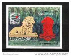 REPUBLIC OF SOUTH AFRICA, 1995, MNH Stamp(s) Singapore,   Block Nr. 37 - Ongebruikt