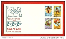 SWAZILAND, 1976,  Mint FDC , Olympic Games,   Nr(s) 253-256,  F 826 - Swaziland (1968-...)