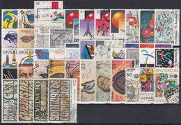 ESPAÑA 1989 Nº 2986/3046 AÑO COMPLETO USADO 54 SELLOS,1 CARNET,2 HB - España