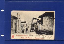 ##(YEL-POSTCARDS-Guatemala - Quezaltenango -used 1903 - Calle De La Estacion  -  Earthquake 18 April 1902 - Guatemala