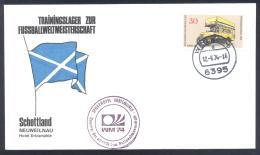 Germany 1974 Cover; Football Soccer Fussball Cacio; FiFA WC Weltmeisterschaft Trainings Camp Scotland Neuweilnau - Coppa Del Mondo