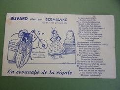 Buvard - Animaux - La Cigale Et La Fourmi - Fable De La Fontaine Aménagée Par GERMALINE Marque De Farine De Blé - Animals