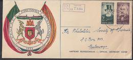 AFRIQUE DU SUD - 1955 - Enveloppe Centenaire De La Ville De Prétoria - Recommandé De Teppex Pour Bulawayo - B/TB - - Afrique Du Sud (...-1961)