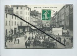 CPA - Tarare  -  Rue Pêcherie , Jour De Marché  (chevaux ) - Tarare