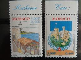 MONACO 2001  Y&T N° 2298 & 2399 ** - L' EAU RICHESSE NATURELLE - Neufs