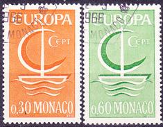 Monaco - Europa (MiNr: 835/6) 1966 - Gest Used Obl - Europa-CEPT