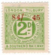(I.B) London, Tilbury & Southend Railway : Letter Stamp 2d - 1840-1901 (Victoria)