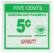 (I.B) Australia - Queensland Railways : Parcel Stamp 5c (Garbutt) - Australia