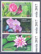 2017. Tajikistan, Flowers & Insects, International Philatelic Exhibition, 3v Perforated, Mint/** - Tajikistan