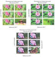 2017. Tajikistan, Flowers & Insects, International Philatelic Exhibition, 3 Sheetlets Perforated, Mint/** - Tajikistan