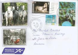"""""""Ringo"""" Cheval (photo De Charlotte Dumas), Sur Lettre Pays-Bas, Adressée ANDORRA, Avec Timbre á Date Arrivée - Horses"""