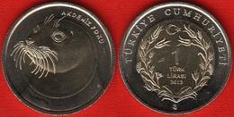 "Turkey 1 Lira 2013 ""Monk Seal"" BiMetallic UNC - Turquie"
