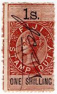 (I.B) Fiji Revenue : Stamp Duty 1/- - Fiji (...-1970)