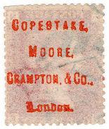 "(I.B-CK) QV Postal : ""Copestake Moore Crampton & Co"" Underprint (SG 43) - 1840-1901 (Victoria)"