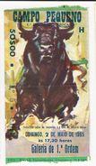 Ticket * Bullfight * Tourada * Portugal * Lisboa * Campo Pequeno * 1965 - Tickets D'entrée