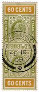 (I.B) Ceylon Telegraphs : 60c (Colombo) - Ceylon (...-1947)