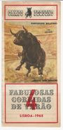 Program * Bullfight * Tourada * Portugal * Lisboa * Campo Pequeno * 1965 - Programmes