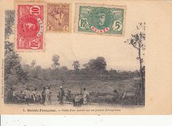 Guinée Française - Halte D'un Convoi Sur Un Plateau Errugineux - Guinée Française