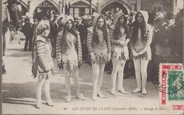 Les Fetes De Cluny (sept 1910) Groupe De Pages - Cluny