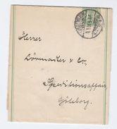 1901 Copenhagen DENMARK Postal STATIONERY WRAPPER To Gothenburg SWEDEN Cover Stamps - Postal Stationery