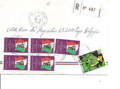 Cote D'Ivoire ( Lettre Recommandée Par Avion De 1982 De Abidjan Vers La Belgique à Voir) - Côte D'Ivoire (1960-...)