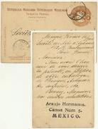 Entier République Mexicaine Pour Paris 1901 Entête: Araujo Hermanos.Canoa Núm 5 Mexico - Mexique