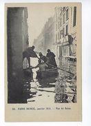 CPA Paris 6 Paris Inondé Janvier 1910 Rue De Seine N° 55 - Inondations De 1910