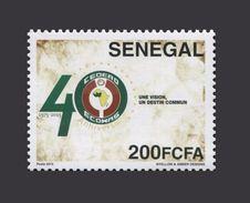 SENEGAL CEDEAO ECOWAS CORNER WITH NUMBER -  ULTRA RARE -  MNH - Sénégal (1960-...)