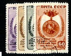 26536 Russia 1946 Michel 1003/06 (o) Offers Welcome. - Used Stamps