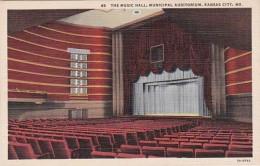 Missouri Kansas City The Music Hall Municipal Auditorium 1943 Cu