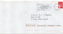 """Flamme-2000--CUJAN-MESTRAS """"Parc De Loisirs De La Hume-Foire Aux Huitres """"   -- Tp Type Marianne Luquet - Marcophilie (Lettres)"""
