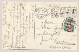 Schweiz - 1920 - 20 Cent Portomarke Mi 34 On Postcard From Geneve To Trogen - Strafportzegels