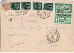 Espresso Vicenza->Genova Aff 2X 1,25L + 4X 25c V. 10/1944  Senza Pezzo Patella Retro - 4. 1944-45 Repubblica Sociale