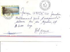 Cote D'Ivoire ( Lettre Par Avion  De 1982 De Complexe Sucrier De Koro Vers La Belgique à Voir) - Ivory Coast (1960-...)