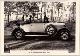 Filmschauspielerin Frau Von Belajeff Mit Ihrem Mercedes-Benz Cabriolet | Mercedes-Pressefoto 22 X 15,5 Cm | 1700352 - Automobiles