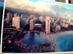 USA HONOLULU RAINBOW TOWERS LAGOON WAIKIKI  VB1984 GI17704 - Honolulu