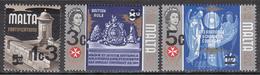 MALTA   SCOTT NO. 447-49     MNH       YEAR  1972 - Malta