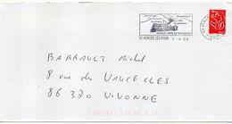 """Flamme-2005-St HONORE LES BAINS-58-""""Station Verte De Vacances """"(thermalisme,voies Respiratoires) - Tp Marianne Lamouche - Postmark Collection (Covers)"""