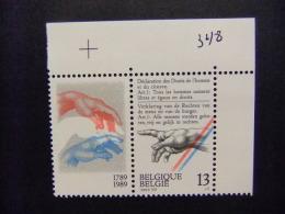 BELGICA BELGIQUE 1989 DERECHOS Del HOMBRE Yvert N 2327 ** MNH - Bélgica