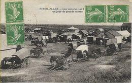 PIROU-PLAGE  Les Voitures Un Jour De Grande Marée - Frankreich