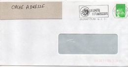 """Flamme Temporaire--2003-JAUNAY-CLAN-86-""""Planète FUTUROSCOPE """" - Tp Marianne Luquet - Postmark Collection (Covers)"""