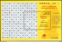 Magic Square - Macau 2015, Miniature Sheet MNH ** - Mathematics, Knight's Move - Sciences