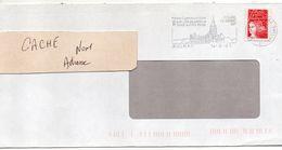 """Flamme --2001 --AULNAY- 17-"""" église Romane XII°s,foires """" - Tp Marianne Luquet-- - Marcophilie (Lettres)"""
