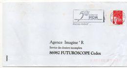 """Flamme Temporaire --2000 -- PARIS PASSY -"""" 50° Anniv HCR (réfugiés)  """" - Tp Marianne Luquet -- - Marcophilie (Lettres)"""