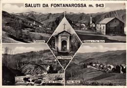 Saluti Da Fontanarossa M. 943_Multivedute_-Cartolina Viaggiata Il 10/8/1957-Originale 100%-Francobollo Integro- - Genova (Genoa)