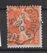 Yv 135 Lourdes - 1906-38 Semeuse Camée