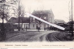 GROBBENDONCK - Tramstatie : Lindekens - Superbe Carte Rare Très Animée - Grobbendonk