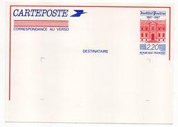 """Entier--Carte Postale Repiquée """" Centenaire Institut Pasteur """"--Neuf - - Entiers Postaux"""